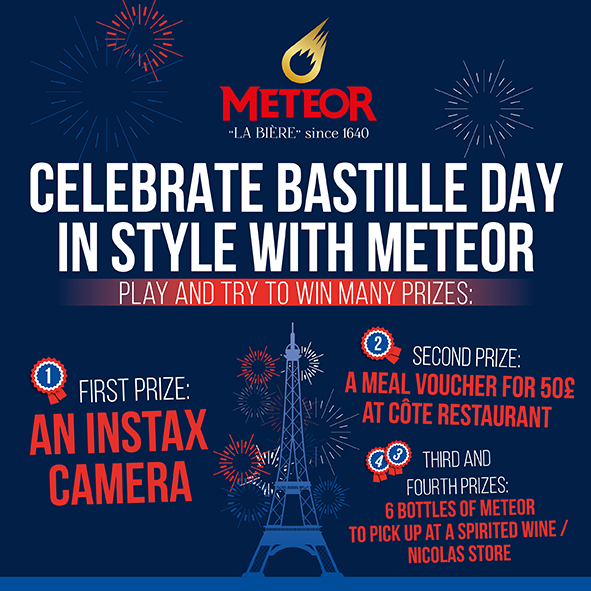 Celebrate Bastille Day in style with METEOR !